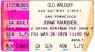 1978-05-26 Late Ticket